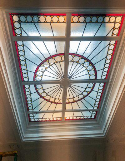 Stained glass skylight custom design for residents in center city