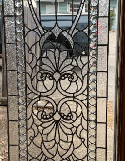 Custom stained glass window design for HGTV